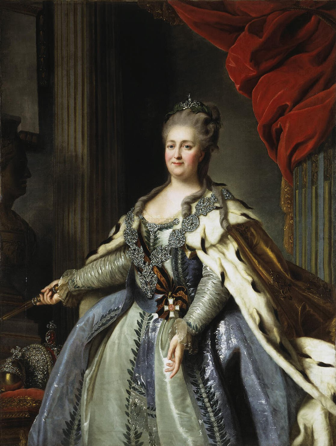 Catherine II by F.Rokotov after Roslin c.1770 Hermitage