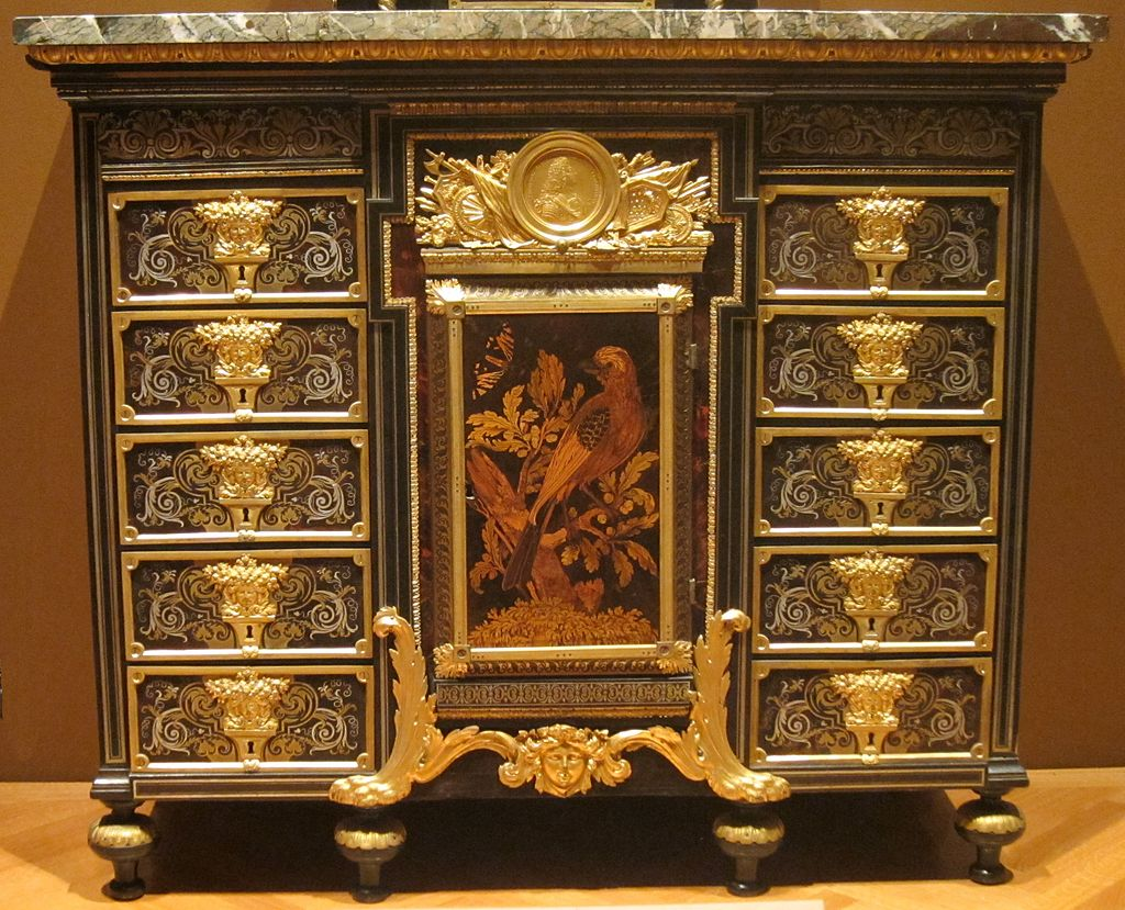 Cabinet c. 1690 ebony metal and tortoise shell André Charles Boulle Cleveland Museum of Art