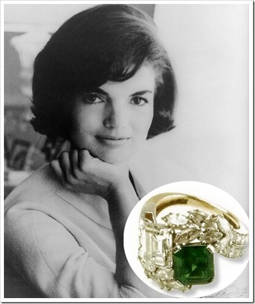 Jackie Emerald Ring